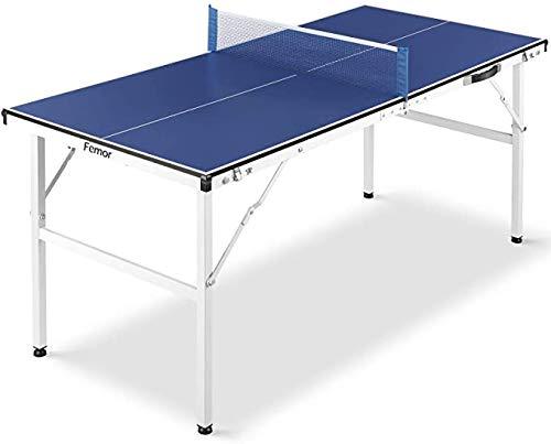FEMOR Tischtennisplatte, 150 x 70 x 67 cm Mini Tischtennisplatte, Tischtennistisch für Indoor & Outdoor,...