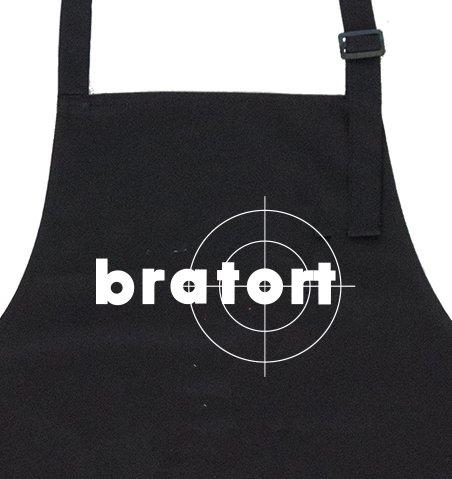 GRILLHIT X Grillschürze schwarz: Bratort - Geschenk für Männer, Freund, Papa, Mann