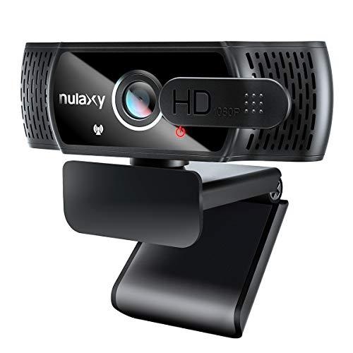 NULAXY C900 Webcam FHD 1080P mit Mikrofon und Datenschutz Abdeckung, Plug & Play, Laptop PC Webkamera für...