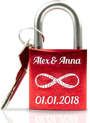 ABUS Liebesschloss mit Gravur I Valentinstagsgeschenk für Sie - Valentinstagstag Geschenk - Liebesschloss mit...