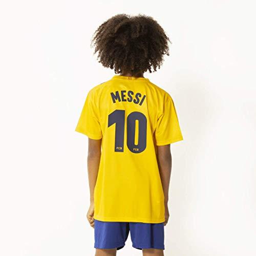 Morefootballs - Offizielles Lionel Messi FC Barcelona Auswärts Trikot Set für Kinder - Saison 19/20 -...