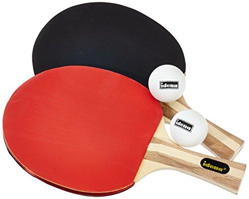 Idena 7429837 - Tischtennis Set Turnier mit 2 Schlägern, 2 Bällen und einer Tasche, perfekt für Unterwegs,...