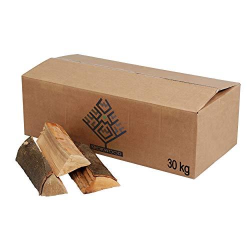 Krok Wood 30 kg Brennholz, Kaminholz 100% Buche für Kaminofen, Lagerfeuer, Feuerschalen (bis 25 cm)