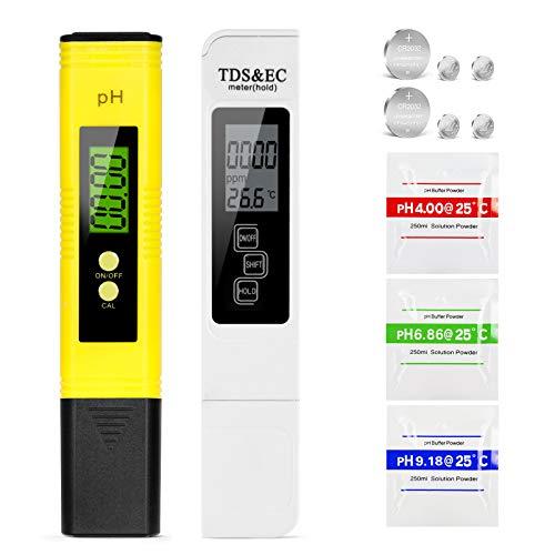 Mture pH Messgerät, pH TDS EC und Temperatur 4 in 1 Set, mit Hohe Genauigkeit automatischer...