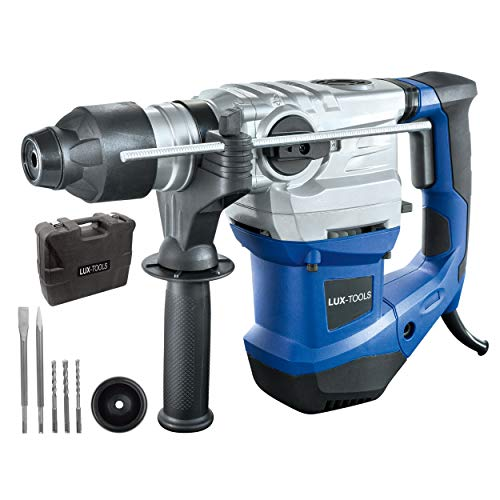 LUX-TOOLS BHA-1500 Bohrhammer mit SDS Plus Aufnahme, Antivibrationsgriff & Tiefenanschlag inkl. Koffer | 230V...