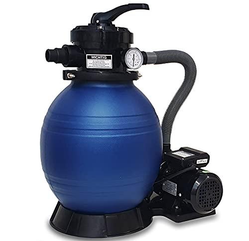 DMS® Sandfilter Sandfilteranlage Sandfilter System, Poolfilter 10200 l/h Filteranlage Filterkessel für Pool...