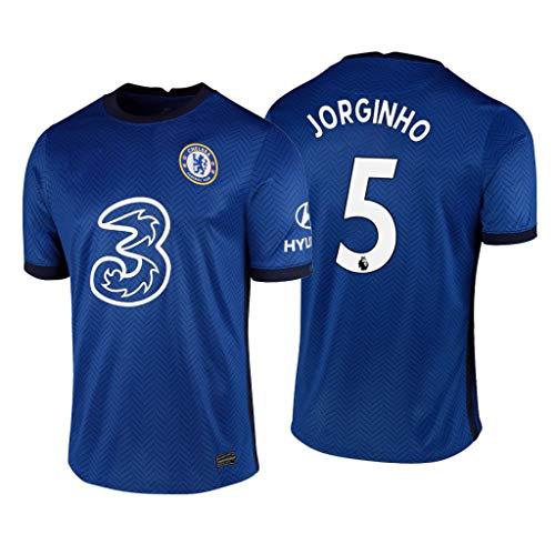 Jorginho Chelsea Blau,Maillot Jorginho Trikot 2020/21 für Herren & Jungen(Blau,XXL)