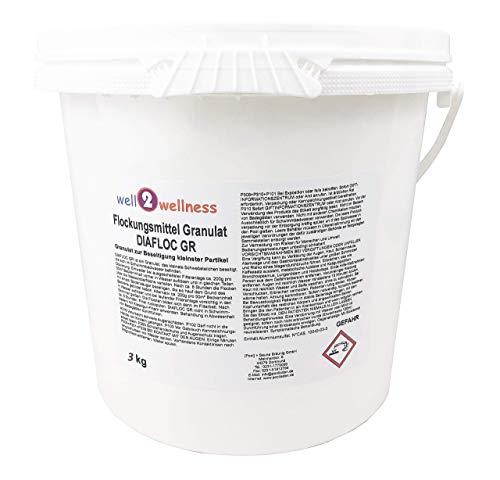 Pool Flockmittel Flockungsmittel Granulat 3,0 kg Eimer - für kristallklares Wasser