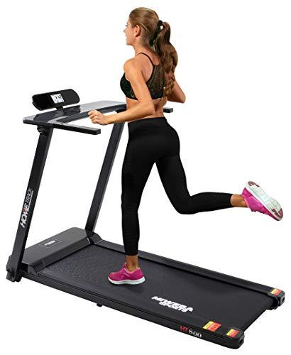 Miweba Sports elektrisches Laufband HT500 - Klappbar - 3 Ps - 14 Km/h - 12 Laufprogramme - Tablet Halterung -...