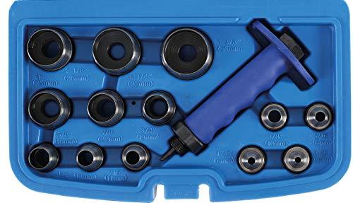 BGS 566 | Locheisen-Satz | 14-tlg | 5 - 35 mm| inkl Kunststoff-Koffer | Lochstanzen-Set | Stanzeisen | Stanz-,...