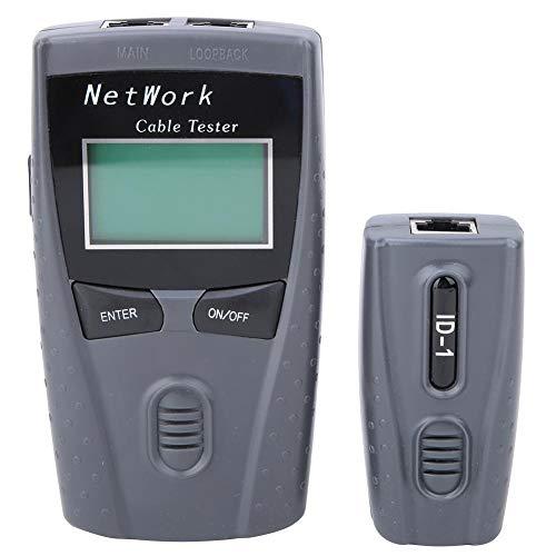 Netzwerktester, Multifunktions-LCD-Display LAN-Netzwerk-Leitungssucher Drahtkabeltester Test-Tool für...