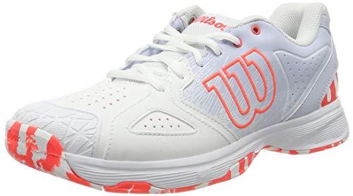 WILSON Damen Kaos Devo Women Tennisschuhe, Weiß/Hellblau/Rot, 40 2/3 EU