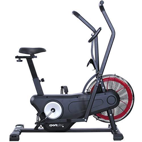 SportPlus Neuerscheinung 2020 Air Bike Indoor Heimtrainer Fahrrad Ergometer für Fitness, Spinning & Crossfit...