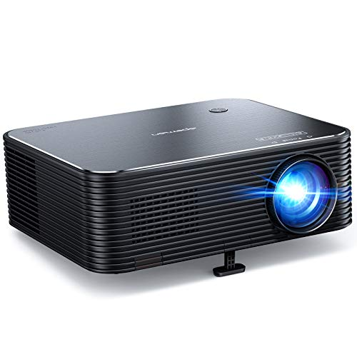 Beamer, APEMAN Native 1080P Full HD Projektor, 300'' LED Display Unterstützt 4K Video, ±25° Fern...