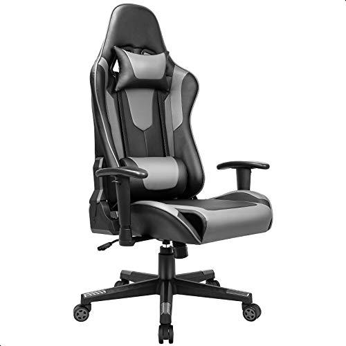 BASETBL Gaming Stuhl PC Gamer Racing Stuhl Gaming Sessel mit verstellbare Armlehne Kopfstütze und...
