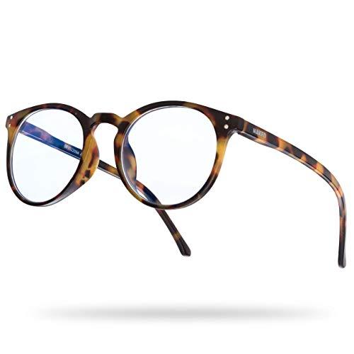 NAKED Optics Blaulichtfilter Brille (Panto, Havanna)