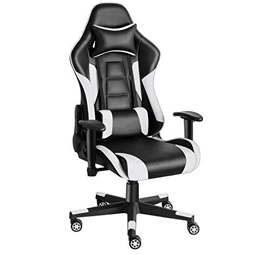 Twomaples Gaming-Stuhl Racing Büro Computer Gaming-Stuhl Ergonomische Rückenlehne und Sitzhöhenverstellung...