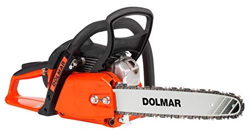 Dolmar Benzin Kettensäge (Hubraum 32 cm³, 1,8 PS, Kraftstofftank-Inhalt 400 ml. Schienenlänge 35 cm, Kette...