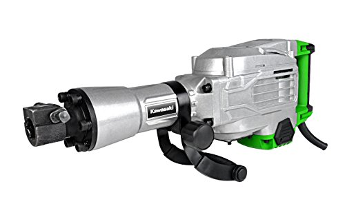 Kawasaki Abbruchhammer, 1700 Watt, 50 Joule Schlagkraft, Schlagzahl: 2000 1/min, inklusive Flach- und...