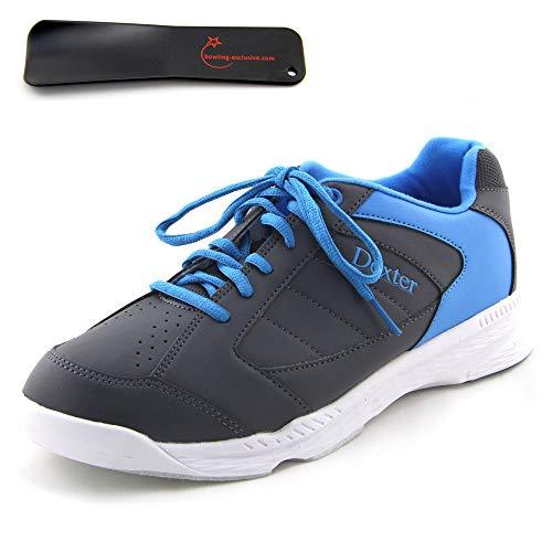 Herren Bowlingschuhe Dexter Ricky IV grau/blau inkl. Schuhanzieher (43 EU)
