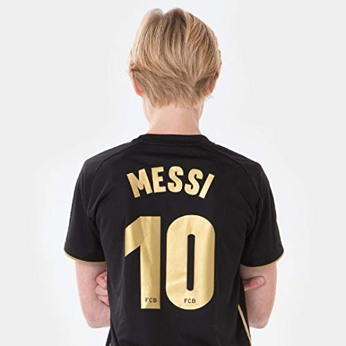 FC Barcelona Morefootballs - Offizielles Lionel Messi Auswärts Trikot Set für Kinder - 2020/2021-128 - FCB...