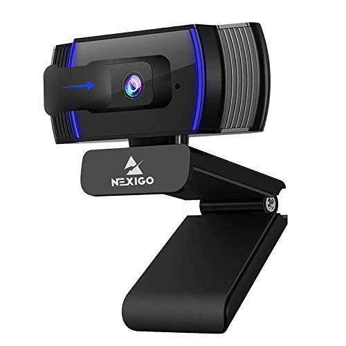 NexiGo Autofokus 1080P HD Webcam mit Stereo Mikrofon and Abdeckung, FHD USB Computer Web Kamera, für Streamen...