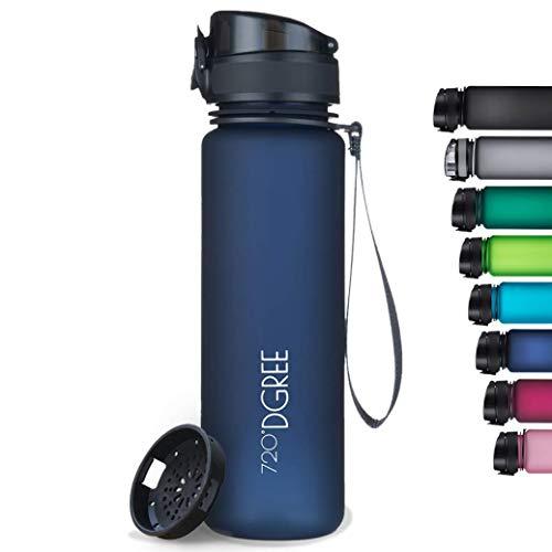 """720°DGREE Trinkflasche """"uberBottle"""" softTouch +Sieb - 650ml - BPA-Frei - Auslaufsichere Wasserflasche..."""