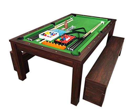 Simba Billardtisch Billard 7 FT Billard-Spiel mit Tischplatte und Containerbänke Neue