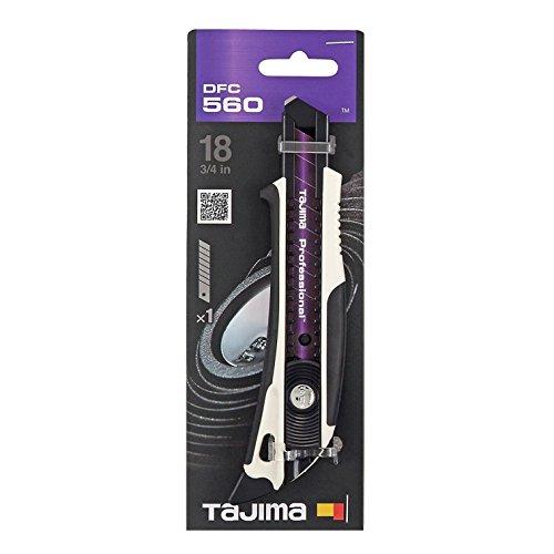 Tajima TAJ-DFC560W DORA FIN Cuttermesser mit RAZAR BLACK Klinge, mit Schieber und Finne, 18 mm, DFC560W, Non...