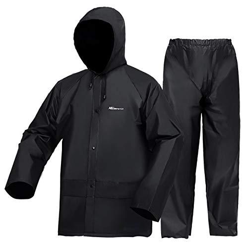 Regenanzug für Herren und Damen, ultraleicht, wasserdichter Regenmantel (Jacke + Hose), Sets mit winddichter...