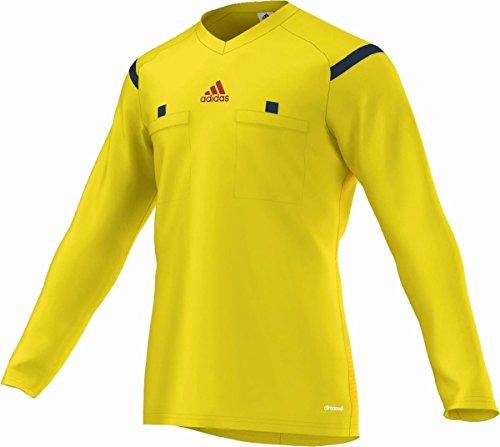 adidas Herren Langarm Schiedsrichter Trikot Referee 14, Vivid Yellow S13/Collegiate Navy/Hi-Res Red F13, XL