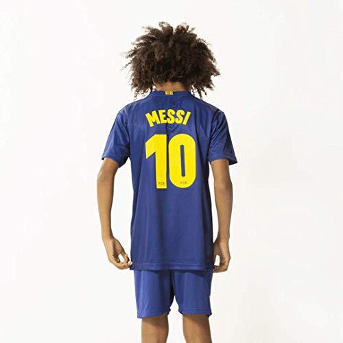 Morefootballs - Offizielles Lionel Messi FC Barcelona Heimspiel Trikot Set für Kinder - Saison 19/20 -...