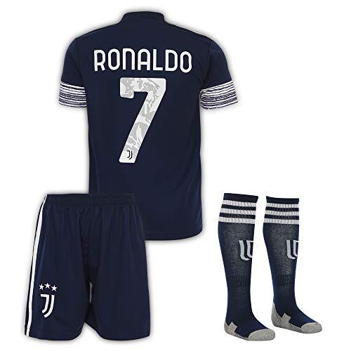 Juve Ronaldo #7 2020/21 Auswärts Trikot und Shorts Kinder und Jugend Größe (Auswärts, 104, Numeric_104)
