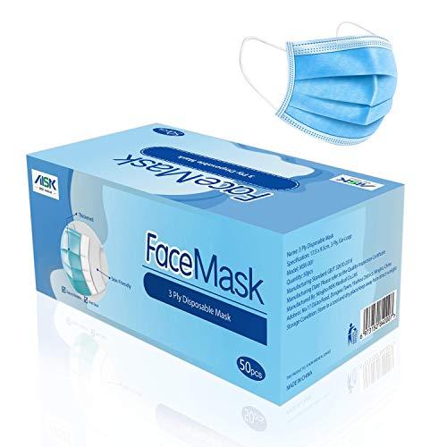 MSK 3-lagige nicht medizinische Allzweckmasken (Packung mit 50 Stück)