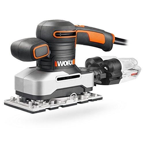 Worx WX642.1 Schwingschleifer – Elektrisches Profi Schleifwerkzeug mit 270W – Inkl. Schleifpapier & Koffer...