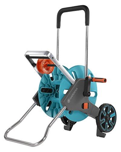 Gardena AquaRoll M Easy: Schlauchwagen mit bis zu 60 m Kapazität, besonders standfest, mit komfortabler...
