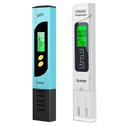 Dustgo PH Messgerät Pool Tester Wasserqualität Tester pH Meter EC Tester mit LCD Anzeige Digitales PH Wert...