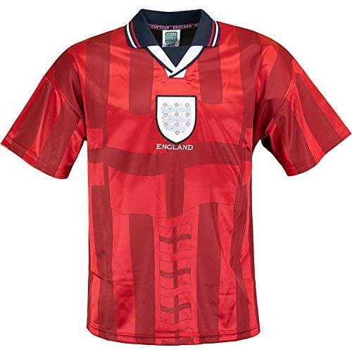 Score Draw England World Cup 1998 Retro Away Trikot (L, red)