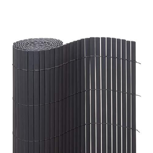Ventanara Sichtschutzmatte PVC Sichtschutzzaun Sichtschutz Windschutz für Garten Balkon Terrasse (180 x 500...