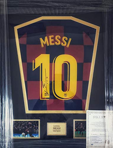 Mega_JumbleSale 2019/20 Offizielles signiertes Lionel Messi Trikot – Barcelona Heimtrikot, signiert von...