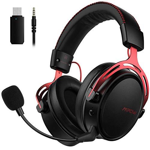 Mpow Air 2.4G Wireless-Gaming-Headset, Over-Ear-Gaming-Kopfhörer für PS4 / PC/ Mac/ Switch, 3D-Sounds,...