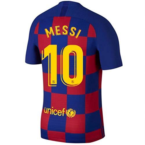 Feeke Messi Trikot Barcelona 19/20 Saison 10 Lionel Messi Heimtrikot Rot / Blau - - Mittel