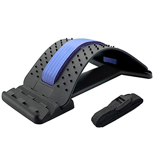 UUCOLOR Rückenstrecker,Rückenmassage Unterstützung,Back Stretcher,3 Stufen Einstellbar Rückendehner Gerät...
