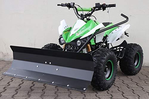 MONTIERT FAHRBEREIT 125cc Panthera Quad ATV mit Schneeschieber Schneeschild Rumschild 100cm (Grn)