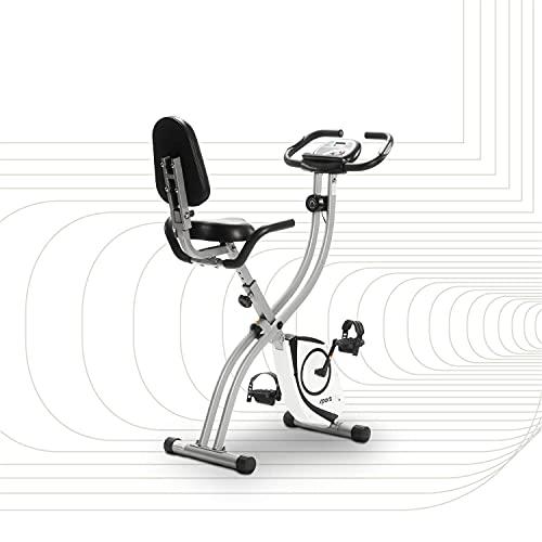 SportPlus Heimtrainer klappbar mit Rückenlehne - 8 Widerstandsstufen, leises Magnetbremssystem, Pulsmessung...