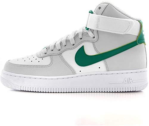Nike Damen WMNS Air Force 1 High Basketballschuh, Grey Fog Neptune Green Summit White White, 36.5 EU
