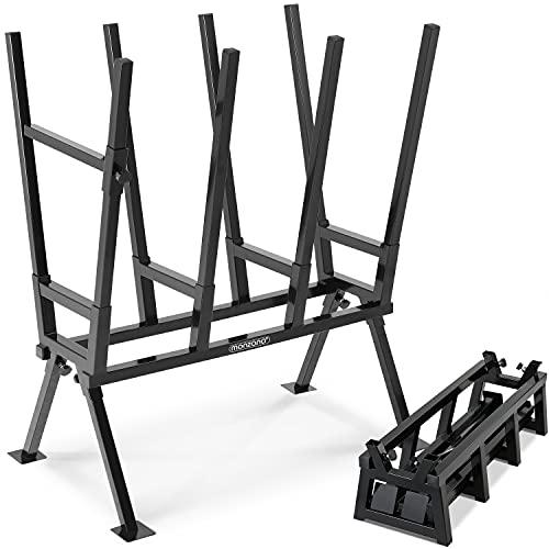 Monzana Gardebruk Sägebock 77x50x105cm 400 kg Belastbarkeit mit Feststellbügel Höhenverstellbar Stahl...