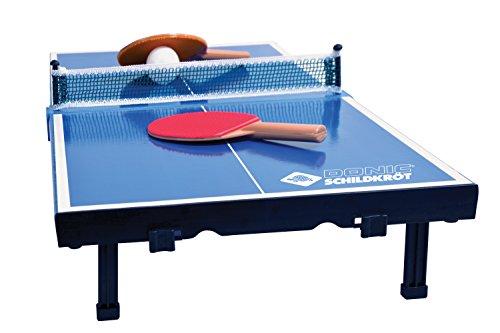 Donic-Schildkröt Tischtennis-Mini-Tisch, Mini-Tischtennistischplatte, komplettes Set mit 2 Schlägern und 1...