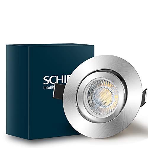 Einbauleuchten Dimmbar SCHIELE Einbaustrahler Led Inkl. 6 x 7W LED Modul 700lm Ersatz für 60W Halogen 2800K...