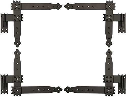 KOTARBAU® Winkelband 250 x 230 mm mit Kloben 4 x Scharnier Fensterladenband Winkelscharnier Türband Torband...